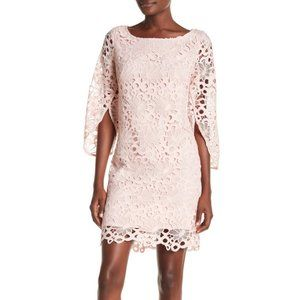 NWT Nanette Lepore Lace Bell Sleeve Drapey Dress